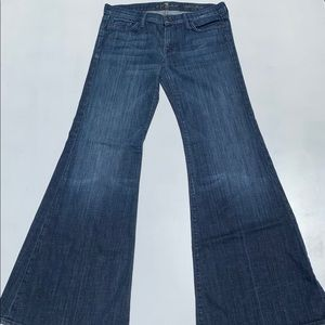 7 For All Mankind Super Flare Denim Jeans Size 29